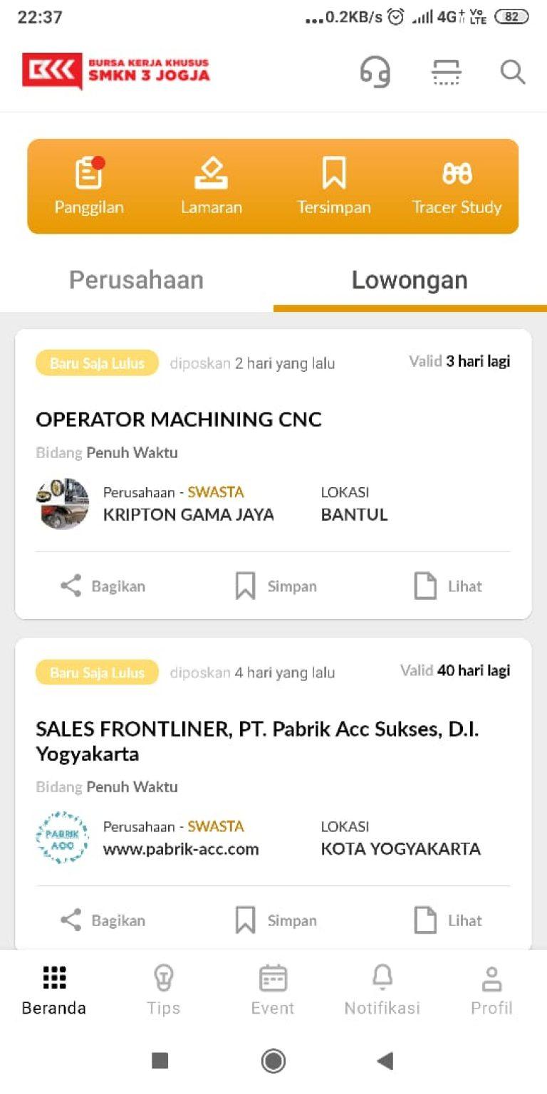SMKN 3 Yogyakarta dan Startup Pijar Career Luncurkan Aplikasi Android untuk Karir Alumni SMK